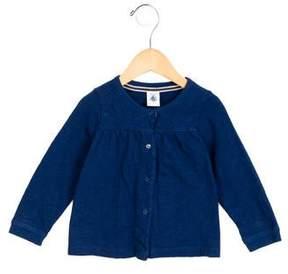 Petit Bateau Girls' Gathered Long Sleeve Top