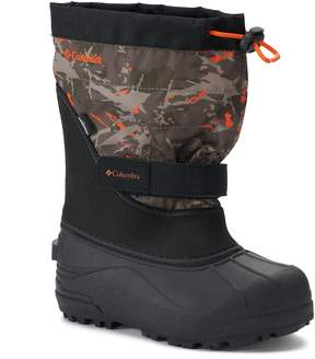 Columbia Powderbug Plus II Print Boys' Waterproof Winter Boots