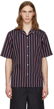Rag & Bone Navy Striped Glenn Shirt