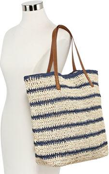 Asstd National Brand Striped Tote Bag