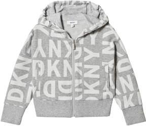 DKNY Grey Branded Hoodie