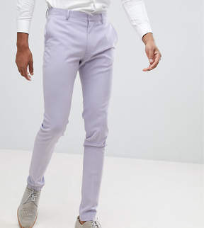 Asos TALL Wedding Super Skinny Fit Suit Pants In Lilac
