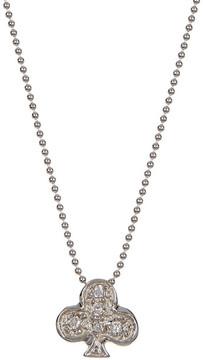 Alex Woo 14K White Gold Little Vegas Diamond Club Pendant Necklace - 0.09 ctw
