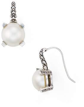 Stephen Dweck Natural Freshwater Pearl Engraved Drop Earrings
