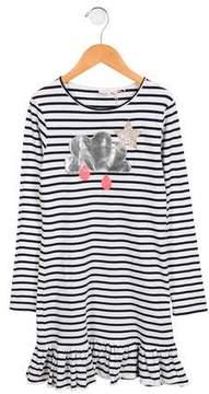Billieblush Girls' Striped Long Sleeve Dress
