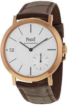Piaget Altiplano Automatic Silver Dial Brown Leather Men's Watch