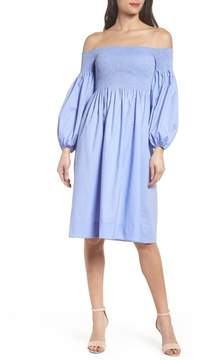 Chelsea28 Off the Shoulder Smocked Dress