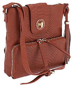 Isaac Mizrahi Live! Bridgehampton Leather SnakeCrossbody Bag