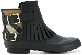 Burberry fringed rain boots