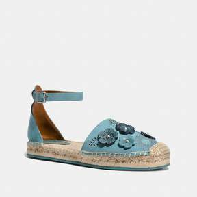 Coach New YorkCoach Ankle Strap Astor Espadrille With Tea Rose Rivets