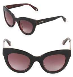 Zac Posen Jacqueline 49MM Butterfly Sunglasses