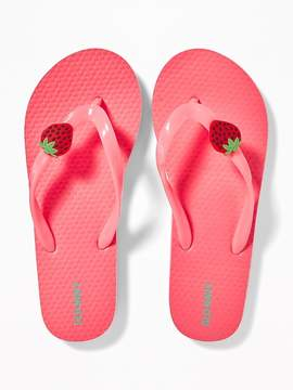 Old Navy Fruit-Charm Flip-Flops for Girls
