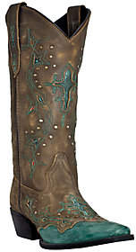 Laredo Dan Post Leather Cowboy Boots - Cross Point
