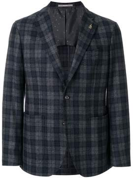 Paoloni checked suit jacket