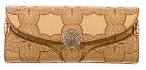 Tod's Embroidered Satin Clutch