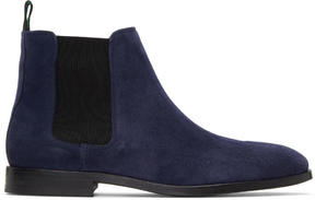 Paul Smith Blue Suede Gerald Chelsea Boots
