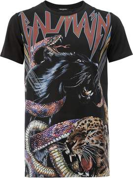 Balmain animal print T-shirt