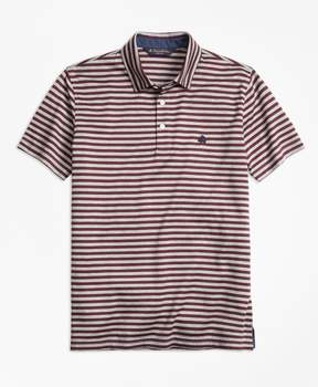 Brooks Brothers Original Fit Stripe Self-Collar Polo Shirt