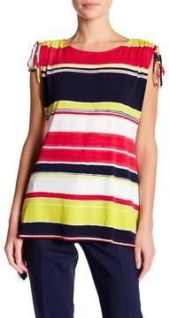 Chaus Cap Sleeve Stripe Blouse