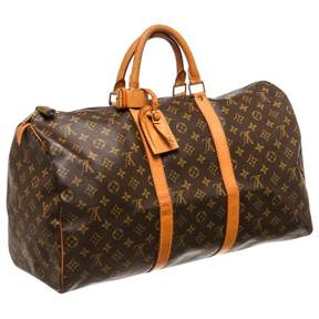 Louis Vuitton Keepall travel bag - BROWN - STYLE