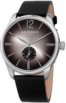 Akribos XXIV Mens Black Strap Watch-A-916ssb
