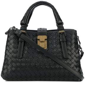 Bottega Veneta nero Intrecciato calf mini Roma bag