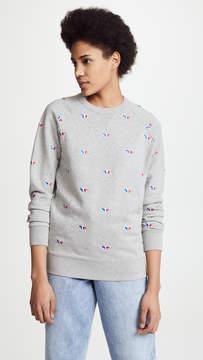 MAISON KITSUNÉ Fox Embroidery Sweatshirt