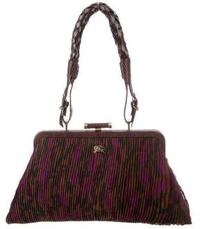 Burberry Lizard-Accented Mini Shoulder Bag - BROWN - STYLE