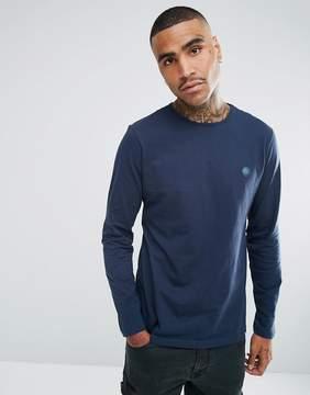 Pretty Green Long Sleeve Jersey T-Shirt In Navy