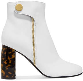 Stella McCartney Faux Leather Ankle Boots - White