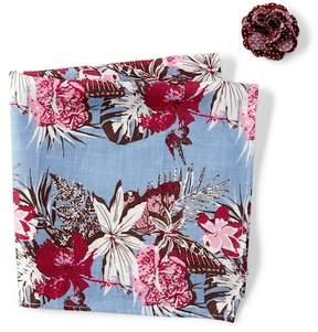 Original Penguin Serzi Floral Pocket Square & Lapel Pin Set