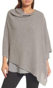 Eileen Fisher Women's Stripe Merino Wool Poncho