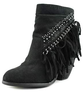 Not Rated Noora Women Round Toe Canvas Black Ankle Boot.