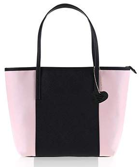 Co The Lovely Tote Women's PU Color Block Open Tote Shopper Bag Accessory