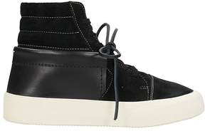 Maison Margiela Lace Up Black Suede And Leather Sneakers