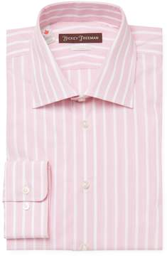 Hickey Freeman Men's Striped Classic Fit Dress Shirt