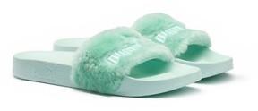 Puma Women's Fenty By Rihanna 'Leadcat Fenty' Faux Fur Slide Sandal