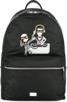 Dolce & Gabbana Volcano designer's patch backpack