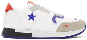 Givenchy White and Red Star Active Runner Sneakers