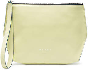 Marni Yellow leather pouch
