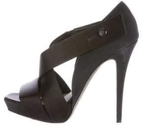 Barbara Bui Satin Platform Sandals