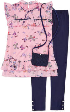 Knitworks Knit Works SS Butterfly Top Legging Set with Purse - Girls' 4-16 & Plus