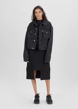 Aalto Washed Denim Jacket Black Washed Size: FR 36