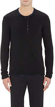 ATM Anthony Thomas Melillo Men's Distressed Slub Henley