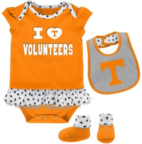 NCAA Baby Tennessee Volunteers Team Love Bodysuit Set