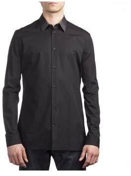 Balenciaga Men's Cotton Long Sleeve Dress Shirt Black.