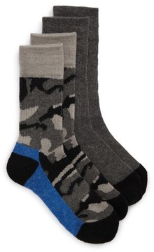 Tucker + Tate Boy's 2-Pack Assorted Crew Socks