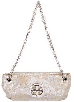 Tory Burch Metallic Suede Shoulder Bag - NEUTRALS - STYLE