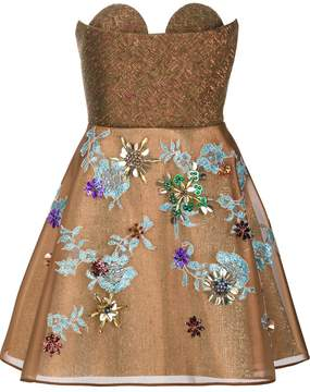 DELPOZO strapless short dress
