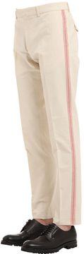 18.5cm Side Stripes Cotton Canvas Pants